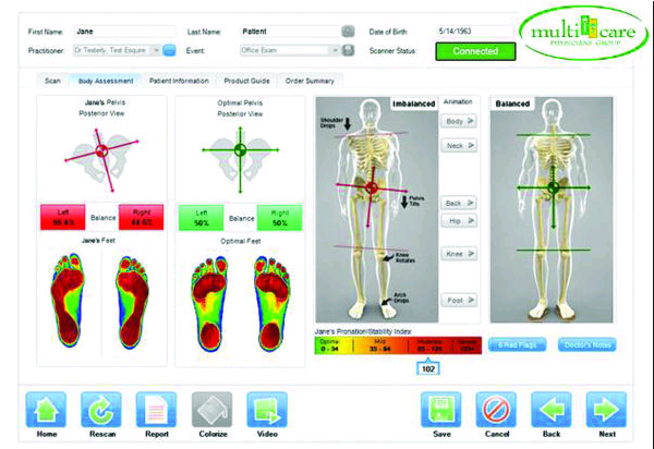 Foot Scan Results - SCJ Image